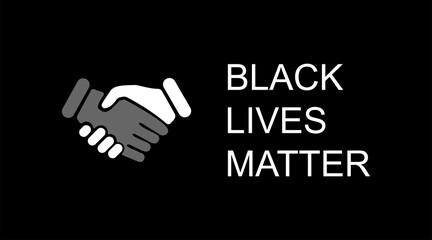 Black lives matter. Black lives matter poster or banners. Black lives matter social protest. Vector illustration