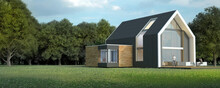 Modern Pitched Roof House In N...