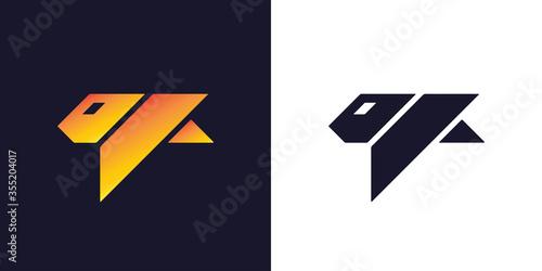 Fototapeta Tiger logo design obraz