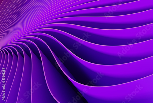 Purple background with abstract spiral geometry. Wallpaper Mural