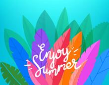 Enjoy Summer Vector Card With ...