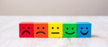 Emotion Face Symbol On Yellow ...