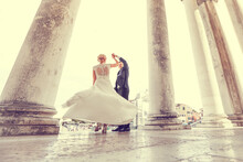 Handsome Groom And Bride In We...
