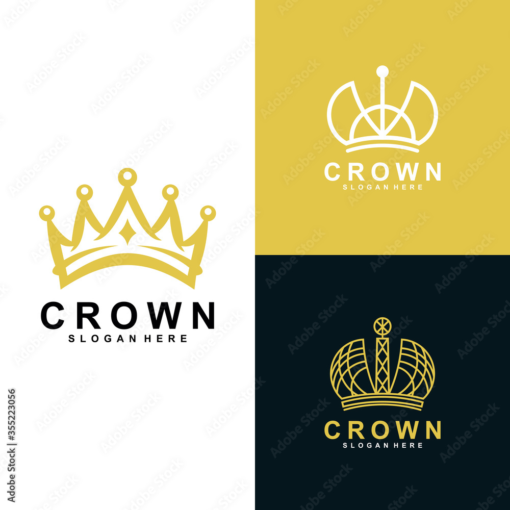 Fototapeta crown logo icon vector isolated