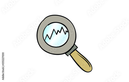 Statistics Monitoring icon Canvas Print