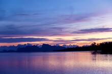 Beautiful Purple Pink Sunset S...