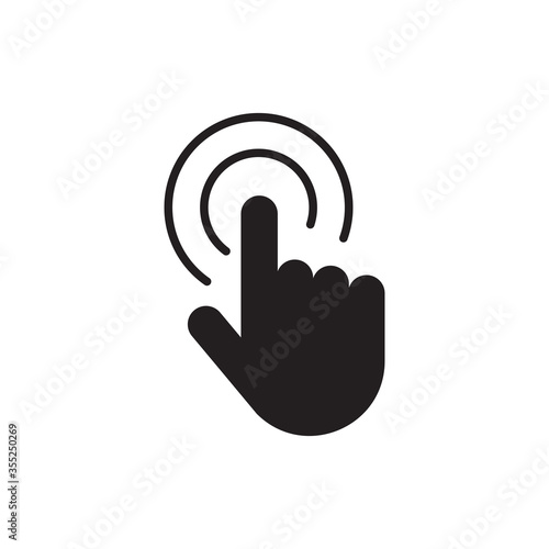 Double tap line icon, Hand Click sign for mobile concept and web design, Finger touch vector icon, Cursor pointer symbol, logo illustration symbol isolated on white background Wallpaper Mural