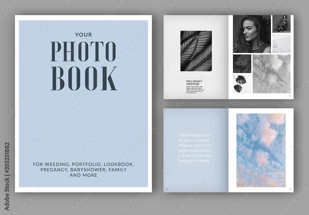 Fototapeta Photo Album Book Layout