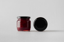 Cherry Jam Jar Mock-Up - Two Jars