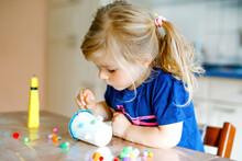 Little Toddler Girl Making Cra...