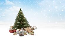 Christmas Presents. Golden Chr...