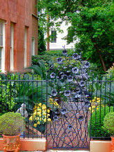 Famous Wrought Iron Garden Gate, Savannah's Architecture, Georgia, USA