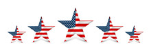 USA Star In National Colors Of...