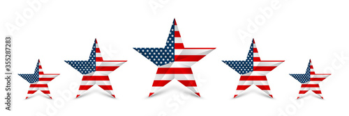 USA star in national colors of America Canvas-taulu