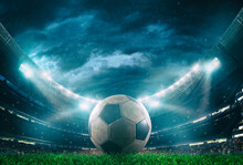 Close Up Of A Soccer Ball In T...