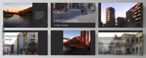 Vector layout of the presentation slides design business templates, multipurpose template for presentation brochure, brochure cover Slika na platnu