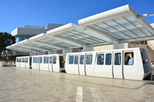 Shuttle Train Between The Getty Center And The Park