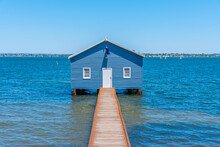 Blue Boat House In Perth, Aust...