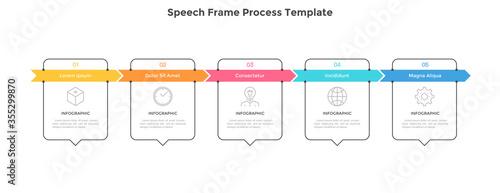 Cuadros en Lienzo Modern Infographic Vector Template