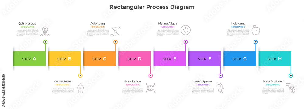 Fototapeta Modern Infographic Vector Template