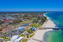 Aerial View Of A Beach In Buss...