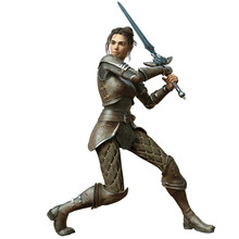 3D Rendered Female Warrior Iso...