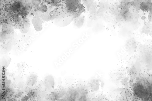 Obraz beautiful gray watercolor splash textured grunge background - fototapety do salonu