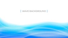 青い波の抽象背景