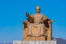 Statue Of King Sejong At Seoul...