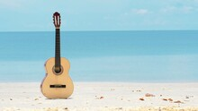 An Acoustic Guitar Under Summe...