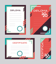 A Set Of Diploma And Certifica...