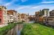 Cityscape of Girona in Catalonia, Spain.