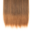 canvas print picture - single piece clip in wavy black mixed brown synthetic hair extensions