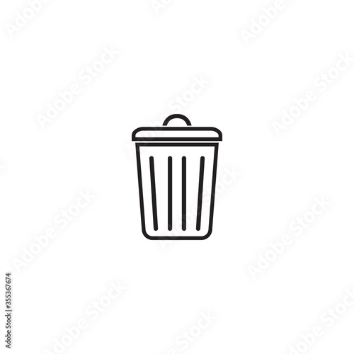 Fototapety, obrazy: trash can icon vector design template