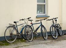 Three Old Rusty Black Bicycles...