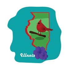 Illinois State Map With Northe...