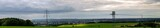 Panoramic view from east to west of Chemnitz City in Germany. The third largest city of the State of Saxony.