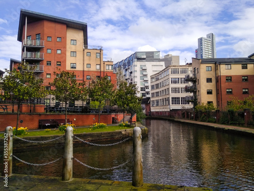 Manchester canals on a sunny day