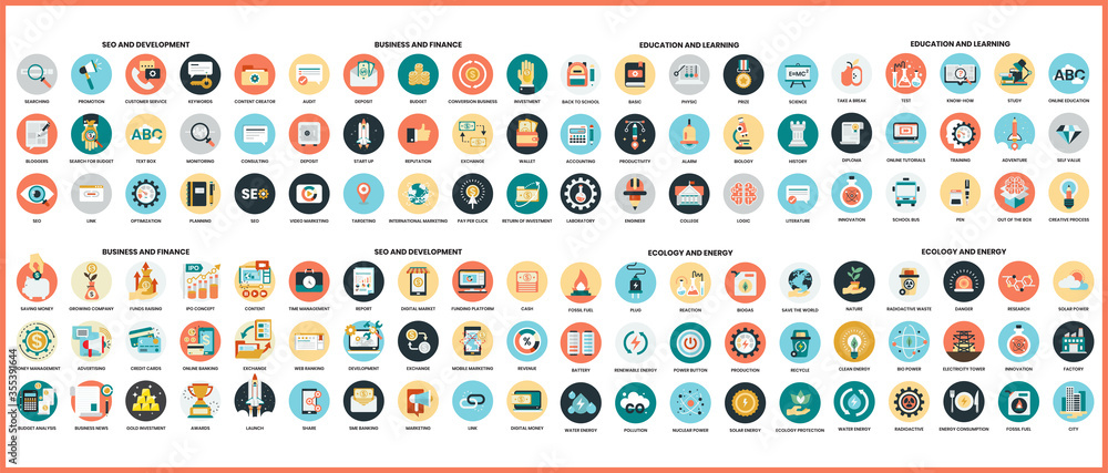 Fototapeta Business icons set for business.