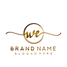 WE Initial Handwriting Logo Wi...