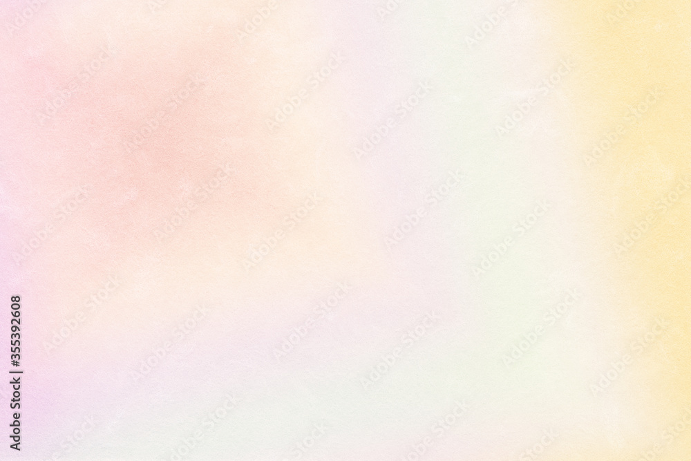 Fototapeta Multicolored pastel abstract background.Gentle tones paper texture. Light gradient.  The colour is soft and romantic.