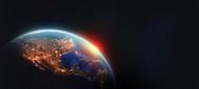 Earth Orbit. North America And...
