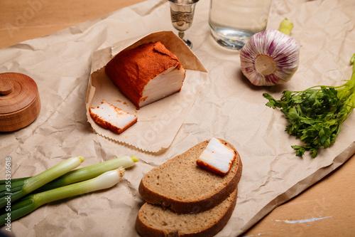 Valokuva Ukrainian traditional meal