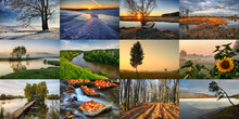 Twelve Colored Images Of Lands...