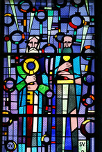 St. Peter And Paul, Stained Glass At St. Blaise Church In Dubrovnik, Croatia