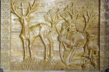 Saint Hubert, Relief On The Altar In The Chapel Of Saint Anthony Of Padua In Grabrovec, Zabok, Croatia