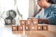 Wooden Cubes With NEW NORMAL W...