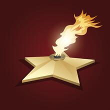 Eternal Flame. Vector Illustra...