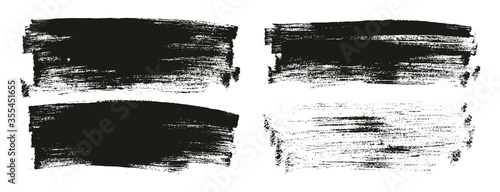 Fototapeta Flat Paint Brush Thin Long Background High Detail Abstract Vector Background Set  obraz