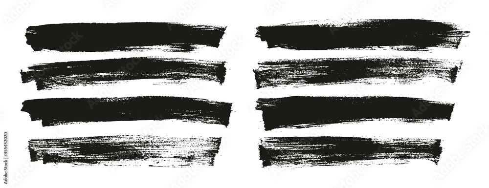 Fototapeta Flat Paint Brush Thin Long Background High Detail Abstract Vector Background Set